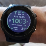 An example of the displays available on the Garmin Forerunner 935.